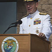 Admiral Mike Mullen Speaks Poster by Michael Wood