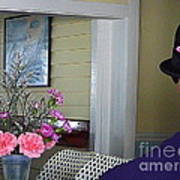 Admiring The Southernmost Flowers Poster