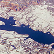 Aerial Of Abiquiu Reservoir Covered Poster