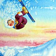 Aerial Skier 13 Poster