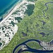 Aerial Vew Of Sandy Neck Beach In Barnstable On Cape Cod Massac Poster