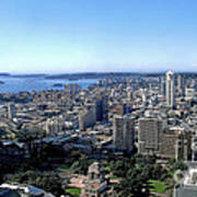 Aerial View - Sydney Harbour Poster by Kaye Menner