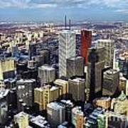 Aerial View From Cn Tower Toronto Ontario Canada Poster