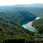 Aerial View Gauley River Poster