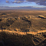 Aerial View Of Chaco Canyon And Ruins Poster
