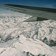 Aerial View Of Himalaya From Plane En Poster