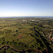 Aerial View Of The Coast Town Of Nadi Poster