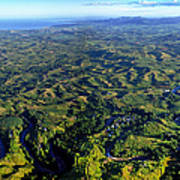 Aerial View Of The Nadi River Winding Poster