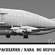 Aero Spacelines Super Guppy Drawing Poster