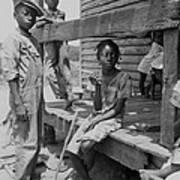 African American Farm Children Poster