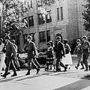 African-american Students Leaving Poster
