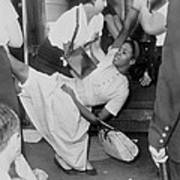 African American Woman Resisting Poster