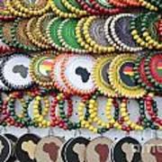 African Beaded Earrings Poster