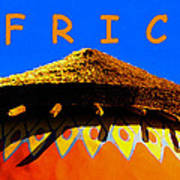 African Dwelling Poster