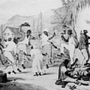 Afro-caribbean Slaves Dancing Poster by Everett