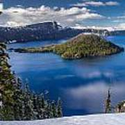 Afternoon Clearing At Crater Lake Poster