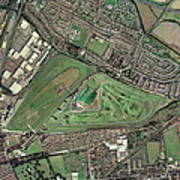Aintree Horse Racing Track, Aerial Image Poster