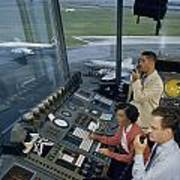 Air Traffic Controllers Direct Traffic Poster