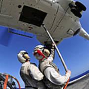 Airmen Attach Pallet Rigs To An Sa-330j Poster