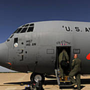 Airmen Board A C-130j Hercules At Dyess Poster