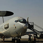 Airmen Prepare A U.s. Air Force E-3 Poster