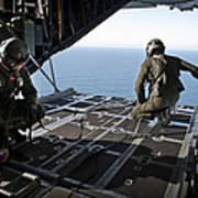 Airmen Wait For The Signal To Deploy Poster