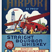 Airport Whiskey Label Poster