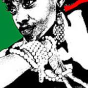 Aisha Jamaica Poster by Naxart Studio
