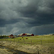 Alberta Stormy Weather Poster
