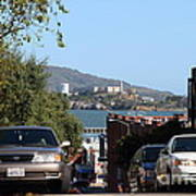 Alcatraz Island Through The Hyde Street Pier In San Francisco California . 7d13973 Poster by Wingsdomain Art and Photography