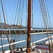 Alcatraz Island Through The Hyde Street Pier In San Francisco California . 7d14147 Poster