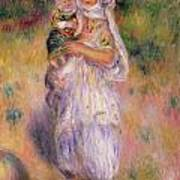 Algerian Woman And Child Poster by Pierre Auguste Renoir