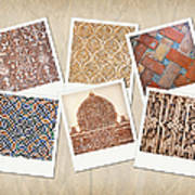 Alhambra Textures Poster by Jane Rix