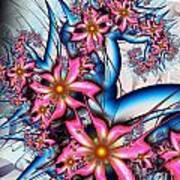 Alien Bouquet Poster