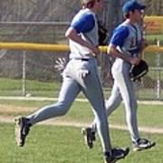 All Air Baseball Players Running Poster