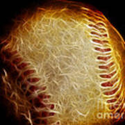 All American Pastime - The Fastball Poster by Wingsdomain Art and Photography