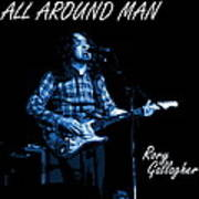 All Around Man Blues Square Poster