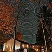 All Night Star Trails Poster