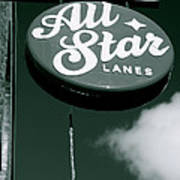 All Star Lanes Poster by Jez C Self