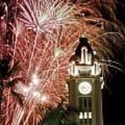 Aloha Tower Fireworks Poster