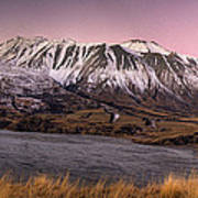 Alpenglow Over The Clyde River Poster