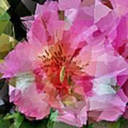 Alstroemeria Cubist Style Poster
