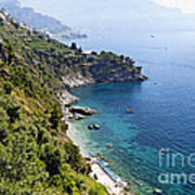 Amalfi Coast At Conca Dei Marini Poster