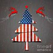 America X'mas Tree Poster by Atiketta Sangasaeng