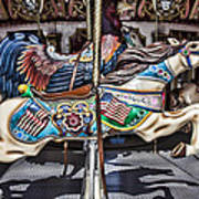 American Carousel Horse Poster