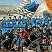 American Civil War, Battle Of Malvern Poster by Photo Researchers