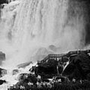 American Falls With Cave Of The Winds Walkway Niagara Falls New York State Usa Poster