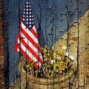 American Flag In Flower Pot - 2 Poster