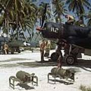 American Ground Crews Prepare Marine Poster by W. Robert Moore