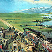 American Transcontinental Railroad Poster